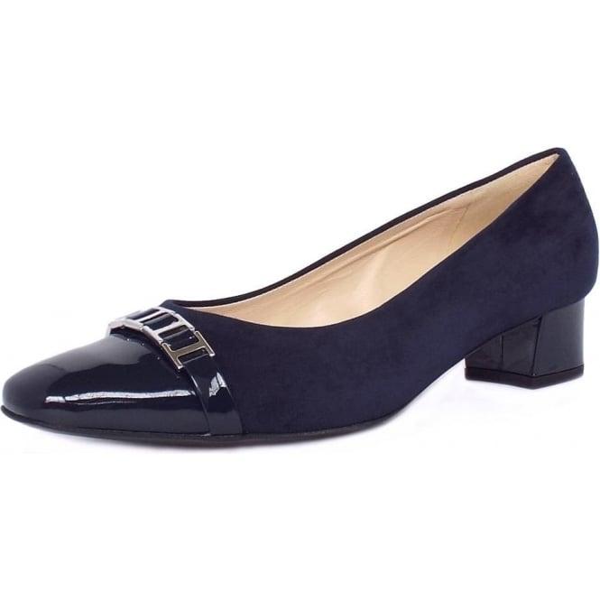 womens navy low heel shoes