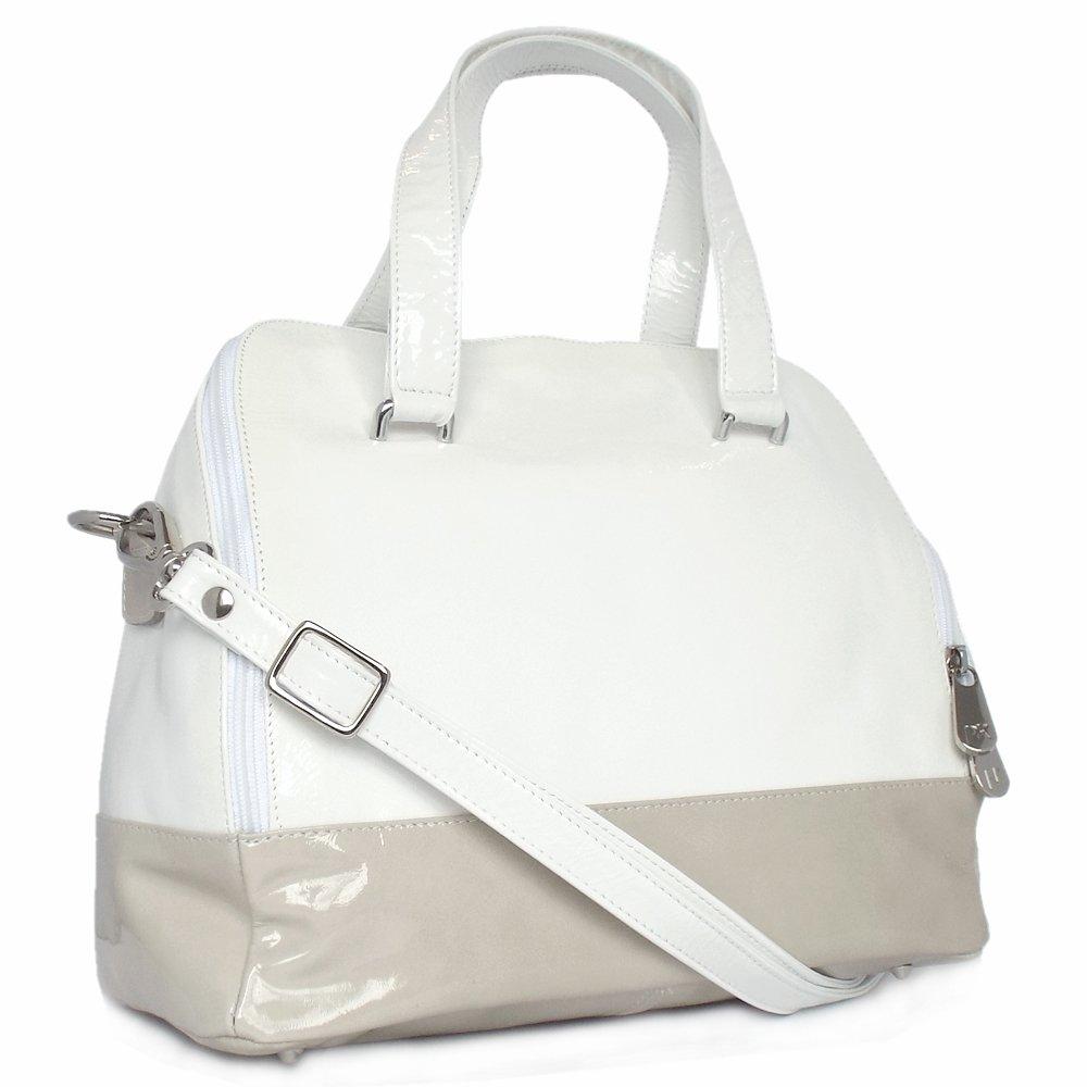 Peter Kaiser UK | Arosa | White and Nude Patent Trendy Handbag
