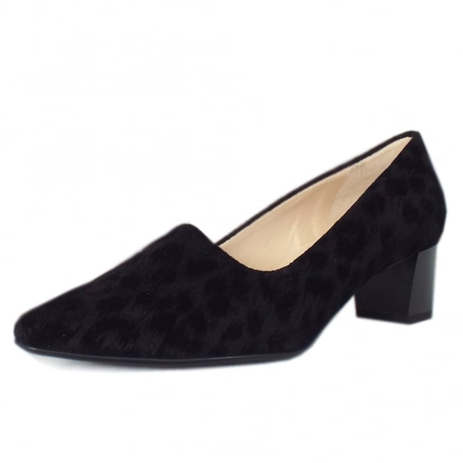 Basima Black Tulia Plus Fit Low Heel Pumps