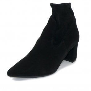 Peter Kaiser Bassy Sock Boot in Black Suede