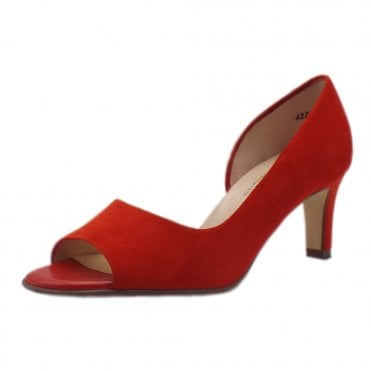 Beate Brasil Suede Stylish Open Toe Pumps