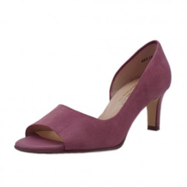 Beate Cassis Suede Stylish Open Toe Pumps