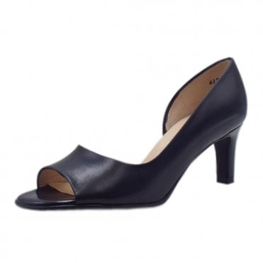 Beate Notte Chevro Leather Stylish Open Toe Pumps