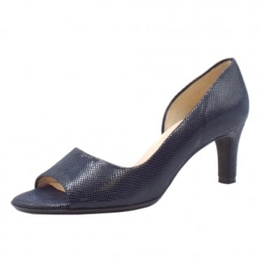 Beate Stylish Open Toe Shoes in Notte Sarto