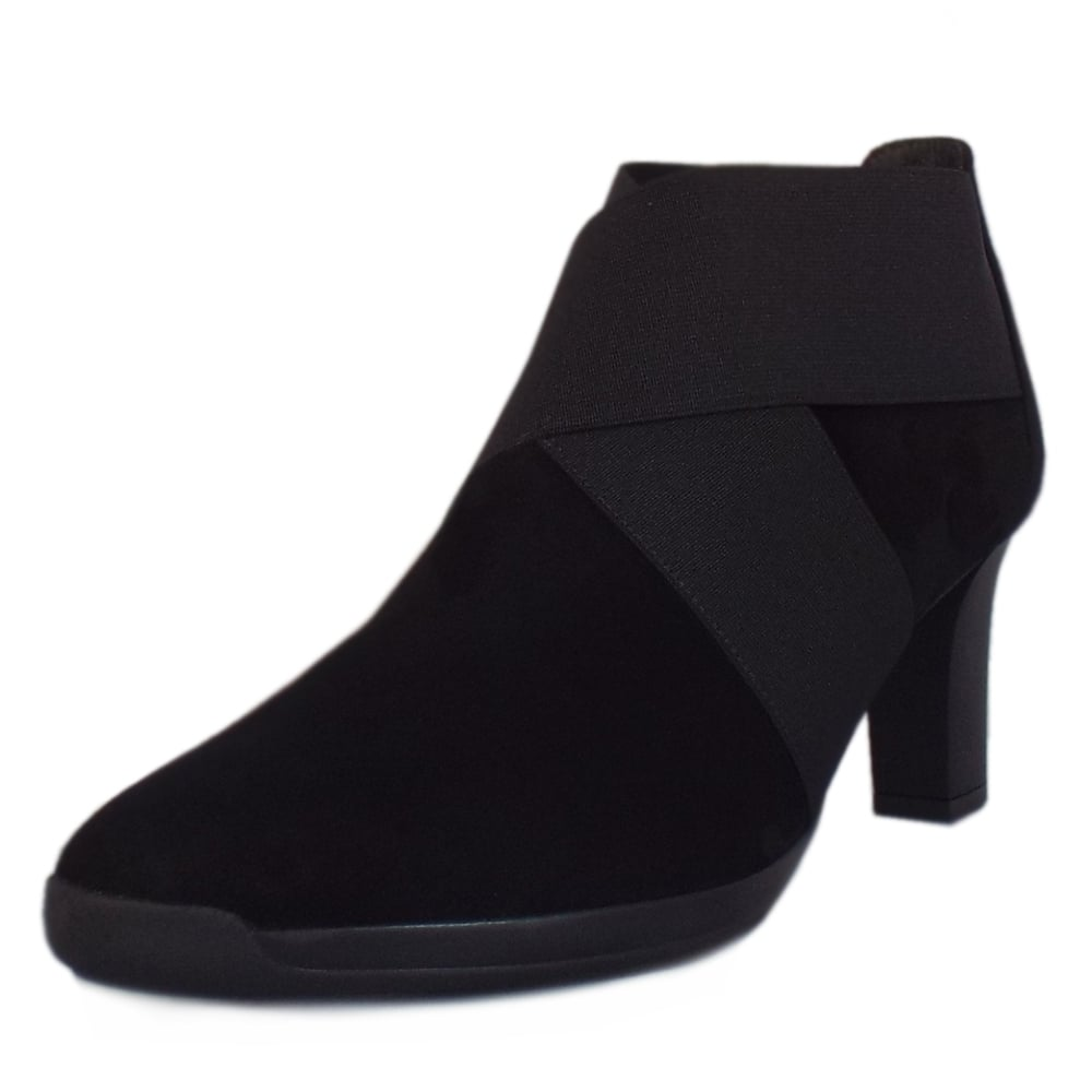 Peter Kaiser Bell | Suede Ankle Boots in Black | Peter Kaiser