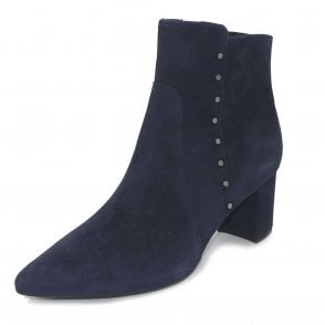 Peter Kaiser Bioni Ankle Boot in Navy Suede