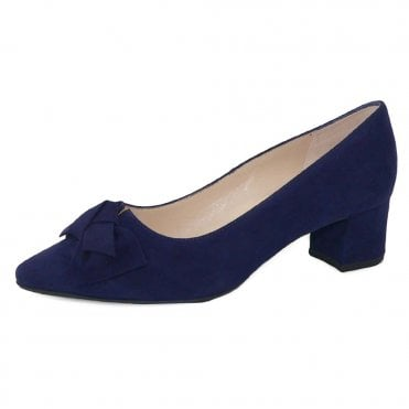Blia-A Wide Fit Court Shoes in Notte Suede
