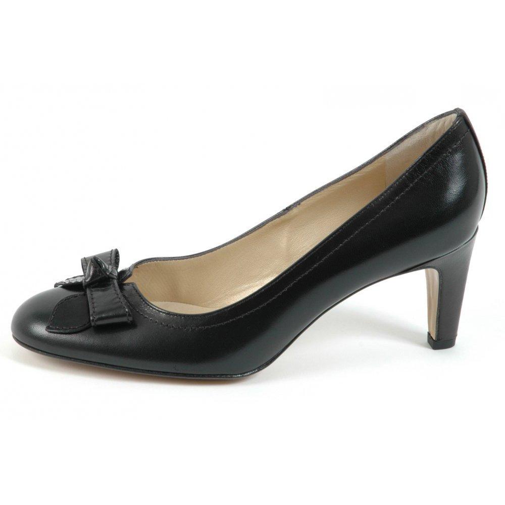 peter kaiser brooke classic mid heel pumps in black leather peter kaiser uk. Black Bedroom Furniture Sets. Home Design Ideas