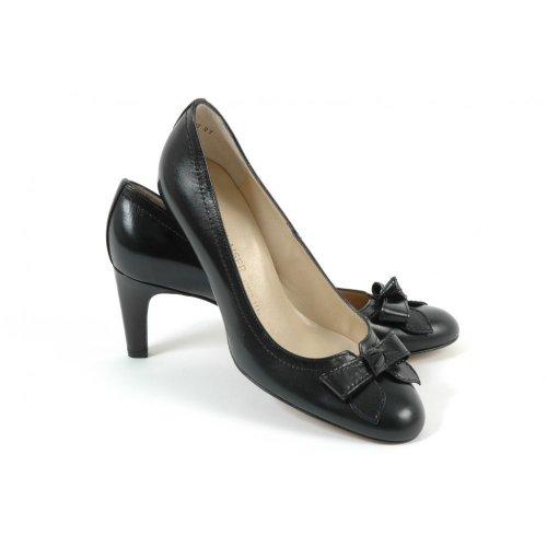 peter kaiser brooke classic mid heel pumps in black leather peter. Black Bedroom Furniture Sets. Home Design Ideas