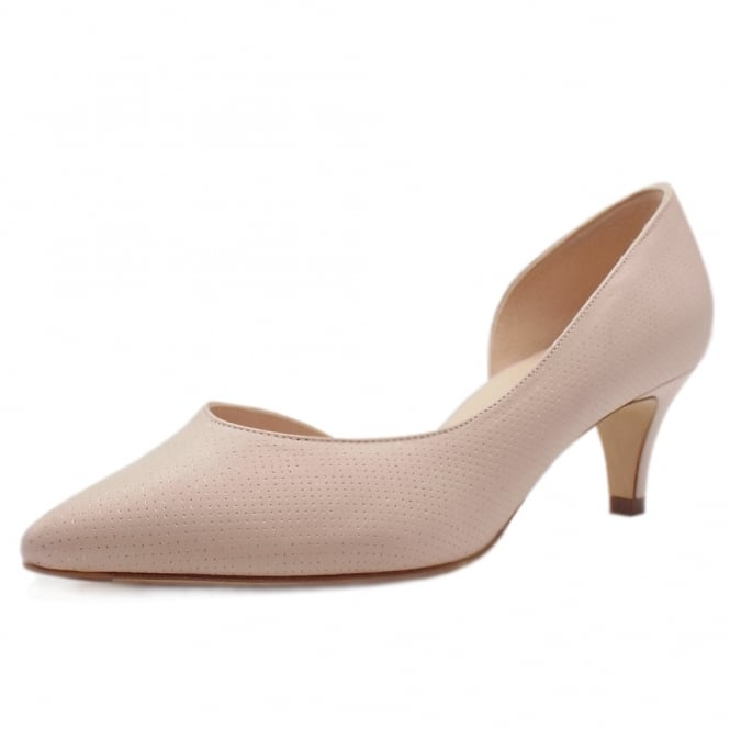 Caete Powder Pin Leather Pointed Toe Pumps