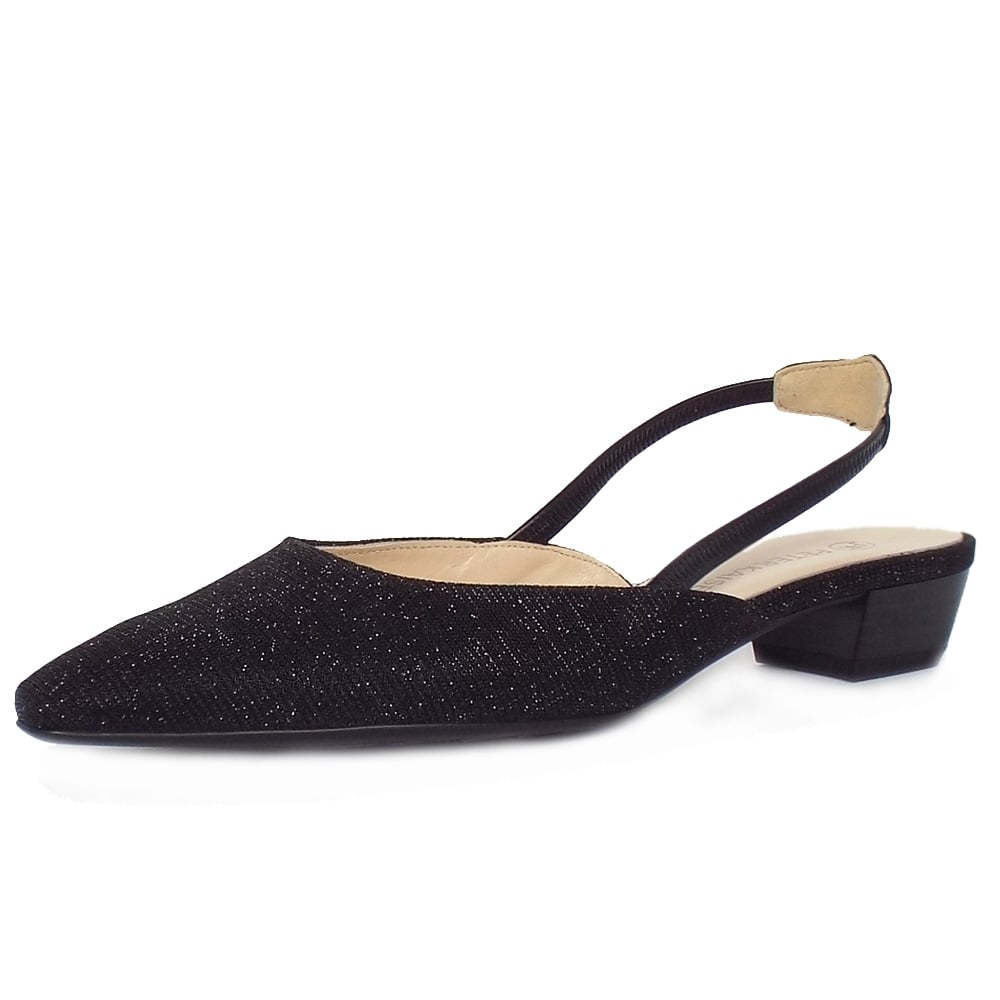 ba537b1755011 Peter Kaiser UK | Castra Black Shimmer | Ladies Evening Sandals