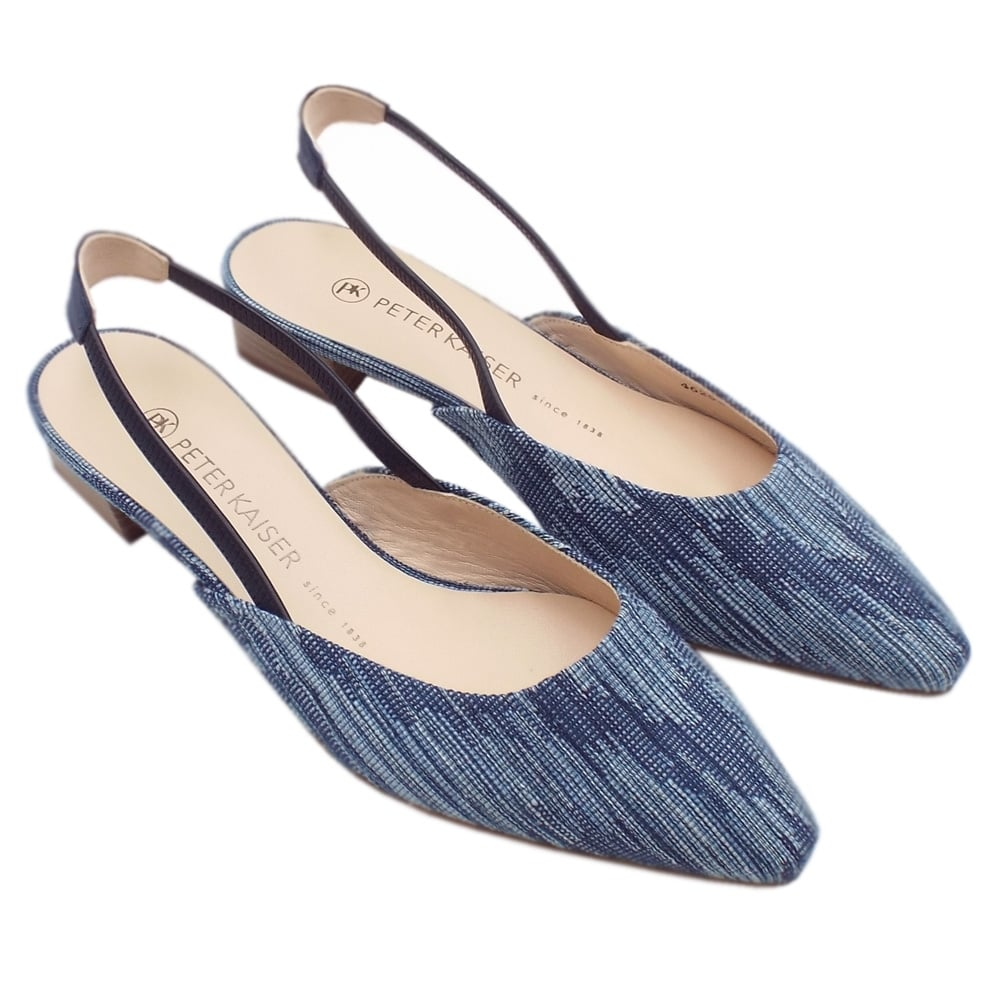c6f5b30651162 ... Castra Women s Dressy Low Heel Sandals in Jeans ...