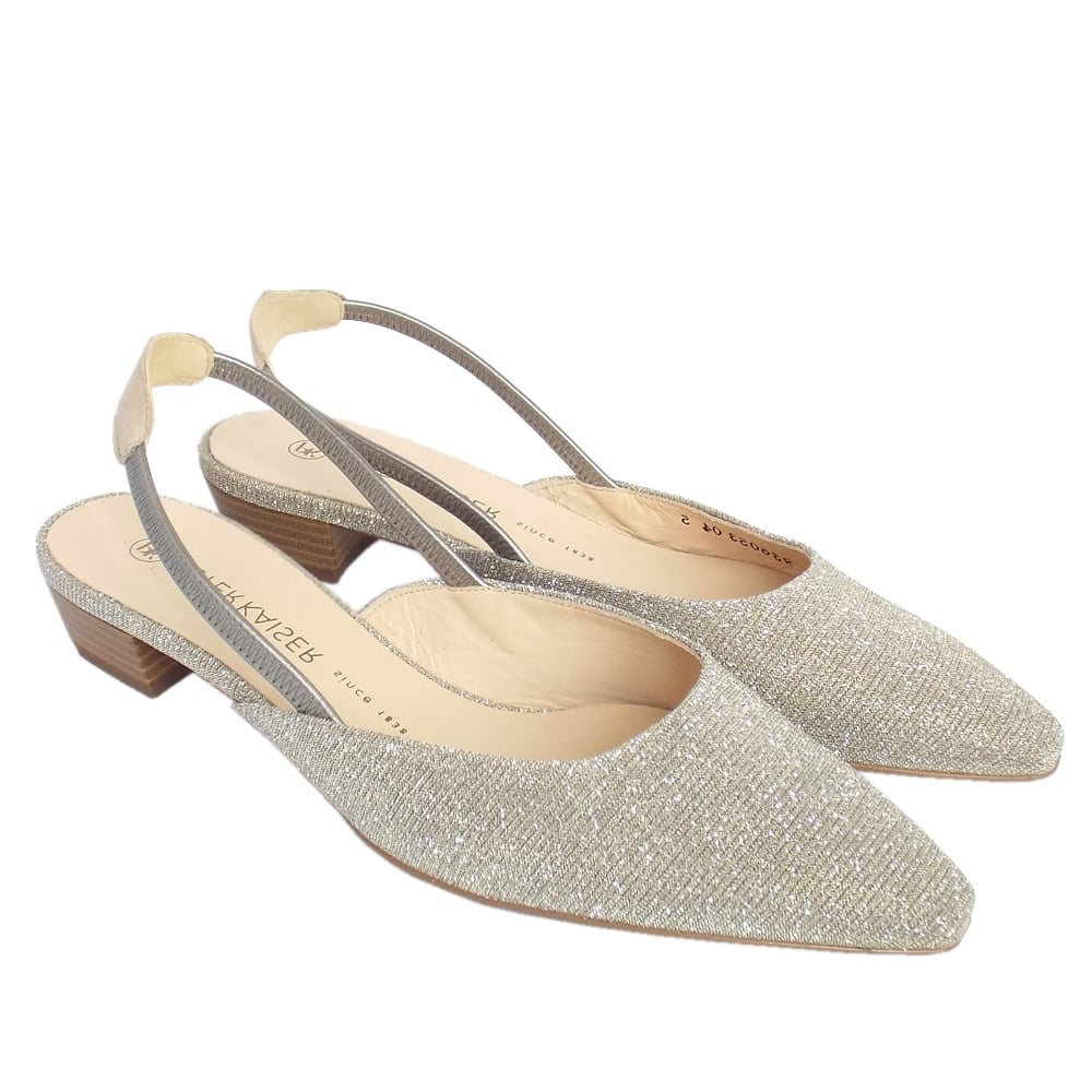 ad8590e250037 ... Castra Women s Dressy Low Heel Sandals in Sand Shimmer ...
