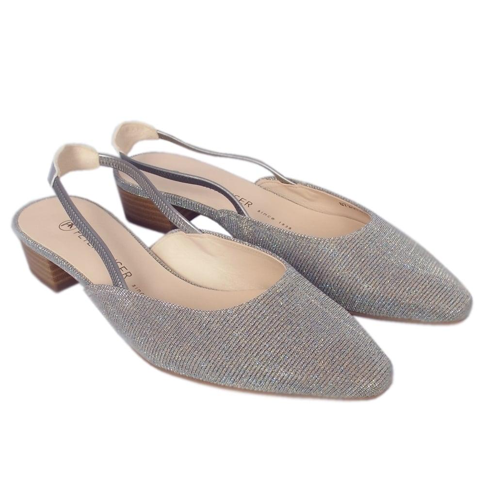 6077cd4de ... Castra Women s Dressy Low Heel Sandals in Topas Shimmer ...