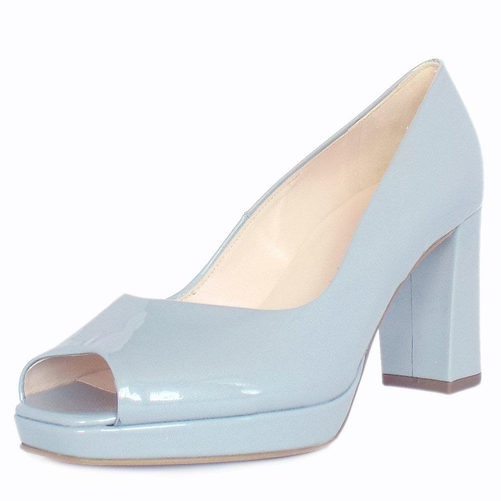 home peter kaiser cooky ice blue pearlised patent peep toe. Black Bedroom Furniture Sets. Home Design Ideas