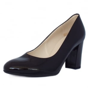 Dalmara Classic Court Shoes in Black Patent