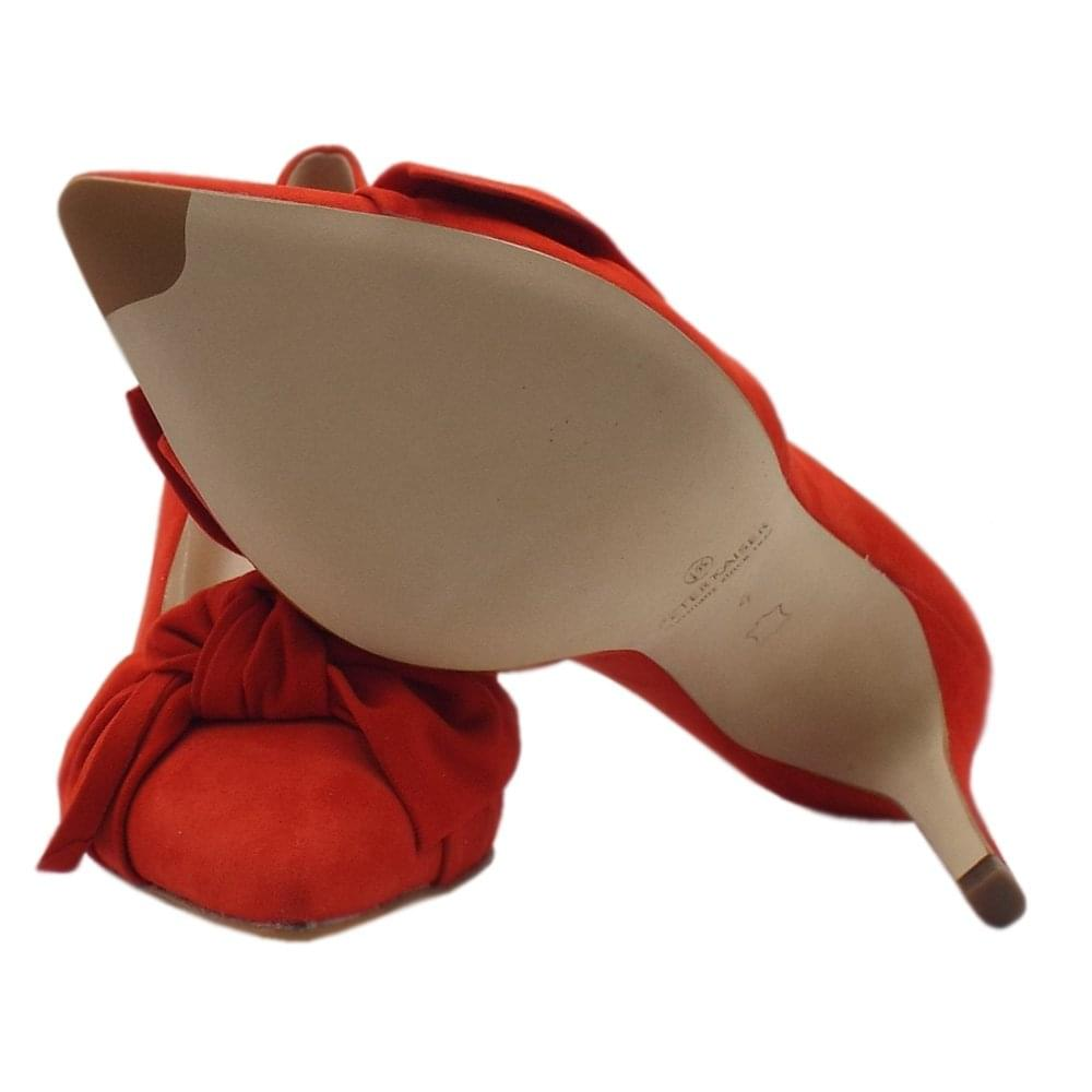 efeb5775b24 Dilia High Heel Pointed Toe Court Shoes in Coral Red