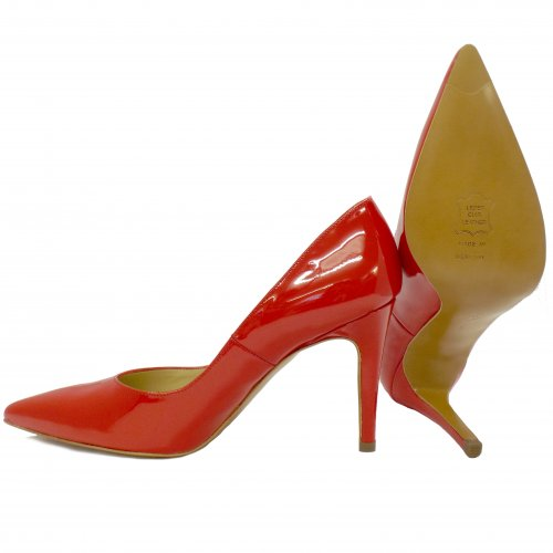 Peter Kaiser Dione | Glossy Red Patent Leather Ladies High Heel Shoes