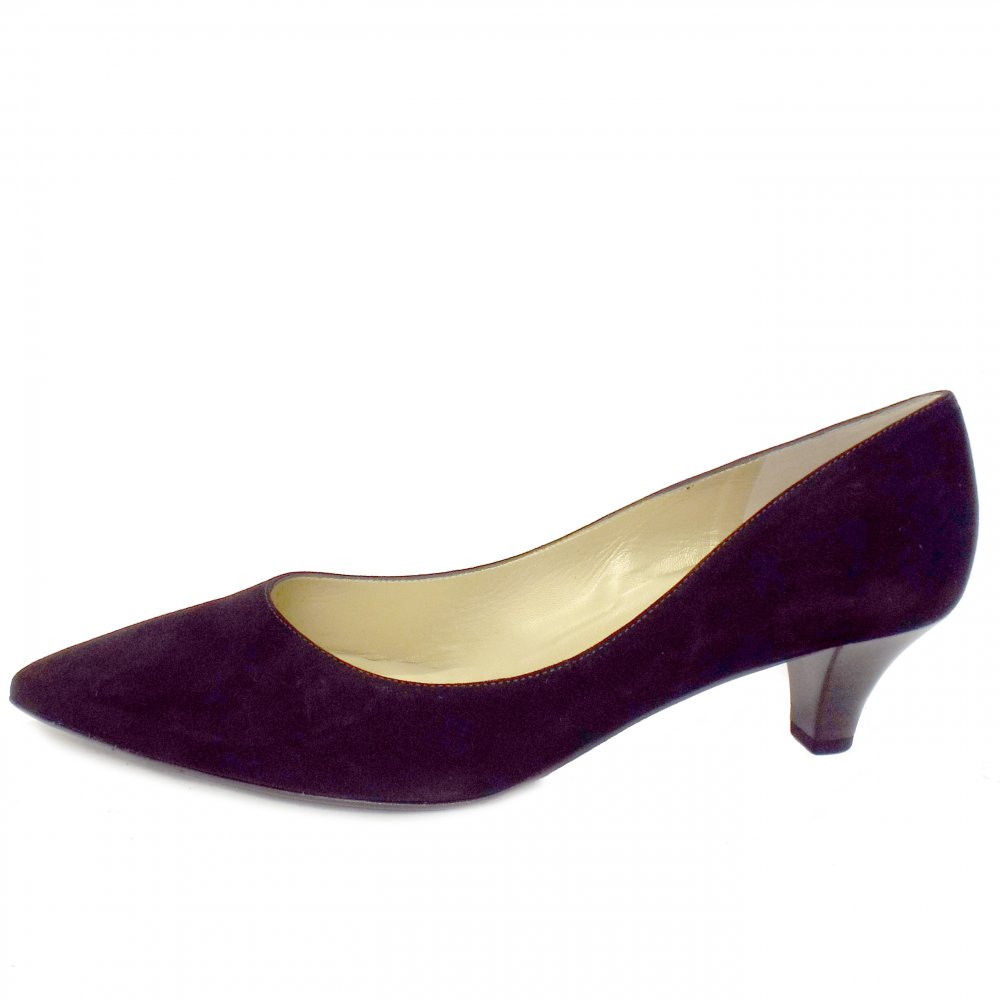 Peter Kaiser : Donjo Ladies Kitten Heel Shoes in Black Suede
