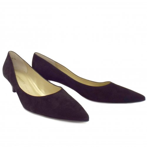 Peter Kaiser Donjo | Ladies Kitten Heel Shoes in Black Suede