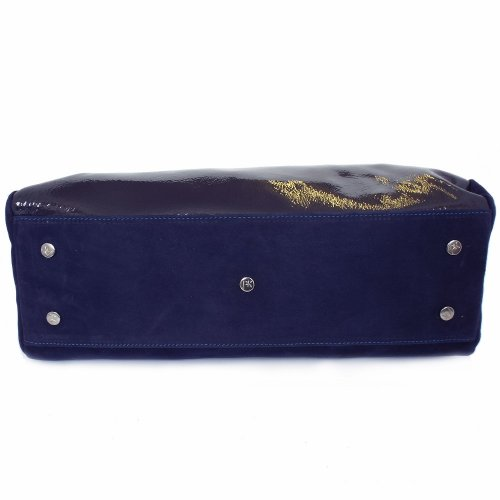 ... Doris Notte Navy Suede and Patent Women s Handbag. ‹ 60184614a86ba
