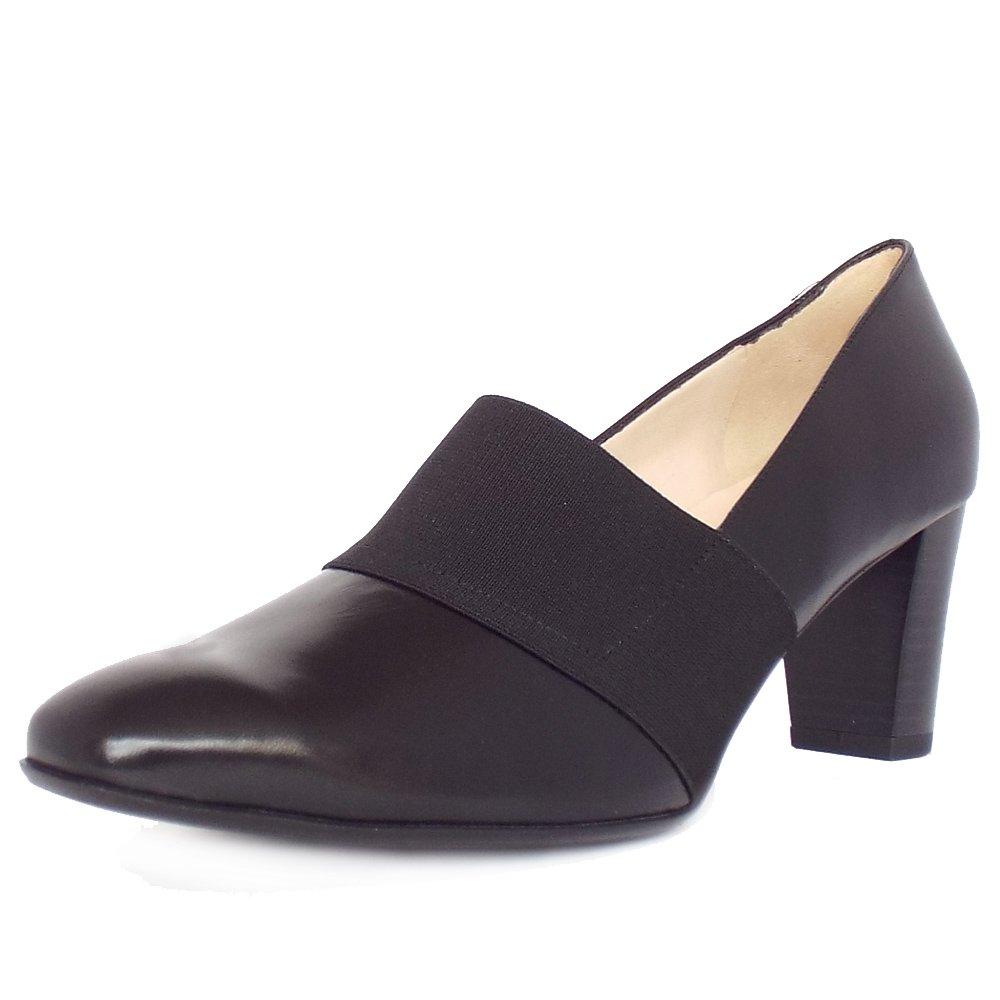 Wide fit sandals shoes uk - Dorna Black Leather High Top Wide Fit Pumps