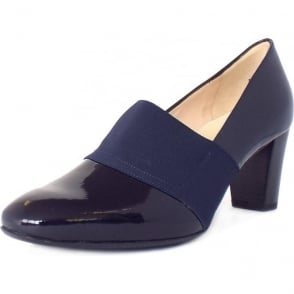 Dorna Notte Crackle Navy Patent Leather High Top Pumps