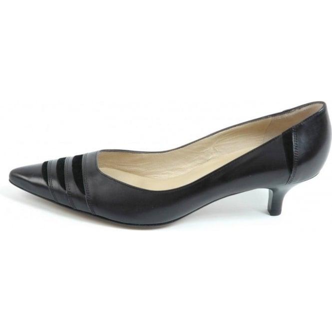 official store exclusive shoes buy best Peter Kaiser Duana | Black leather kitten heel pumps | Trendy heels