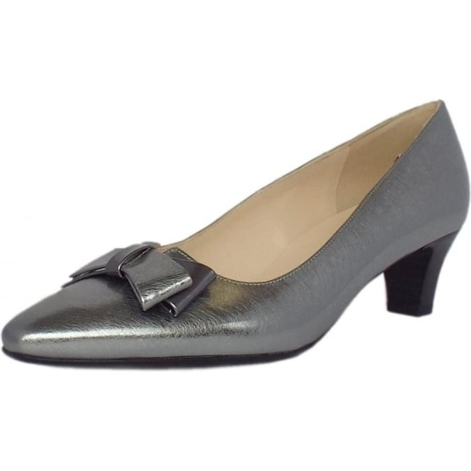 Edeltraud Steel Graffiti Silver Iron Mid Heel Pumps