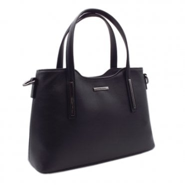 Edilia Black Glove Leather Versatile Bag