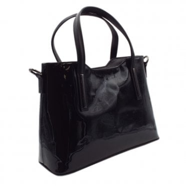 Edilia Black Patent and Leather Versatile Bag