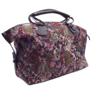 Egenta Multi Flower Fabric Fashion Handbag