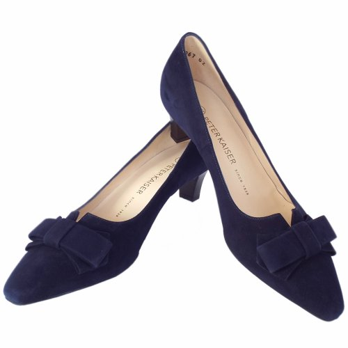 Peter Kaiser UK Egina | Navy Suede Kitten Heel Pump | Free UK Delivery