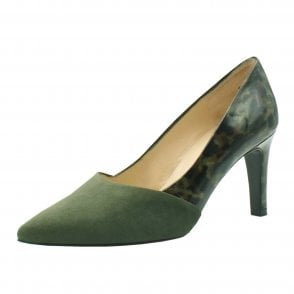 Ekatarina Stylish Leather Court Shoes in Pine