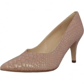 Elektra Powder Birman Leather Mid Heel Dressy Pumps