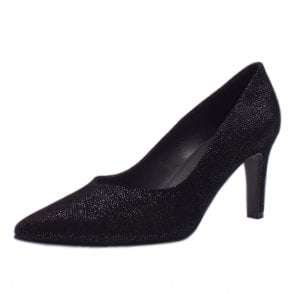 Elfi Classic Court Shoes in Black Asterisk