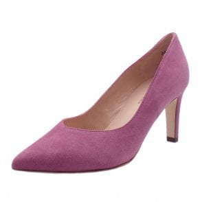 Elfi Classic Court Shoes in Cassis Suede