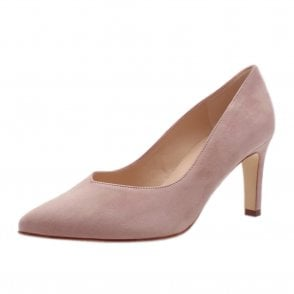 Elfi Classic Court Shoes in Mauve Suede