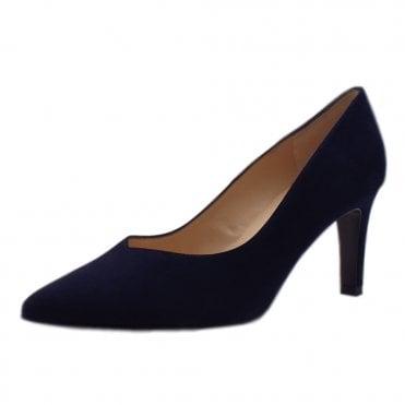 Elfi Classic Court Shoes in Notte Suede
