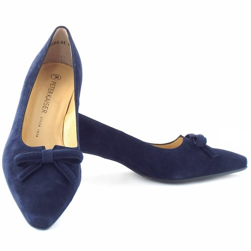 Peter Kaiser Navy Blue Suede Shoes
