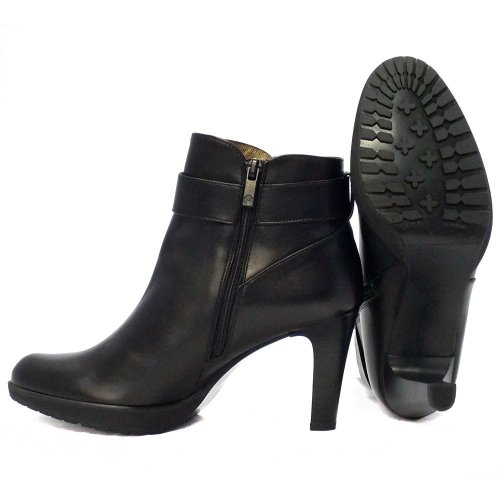 Peter Kaiser elta | black leather stiletto heel ankle boots