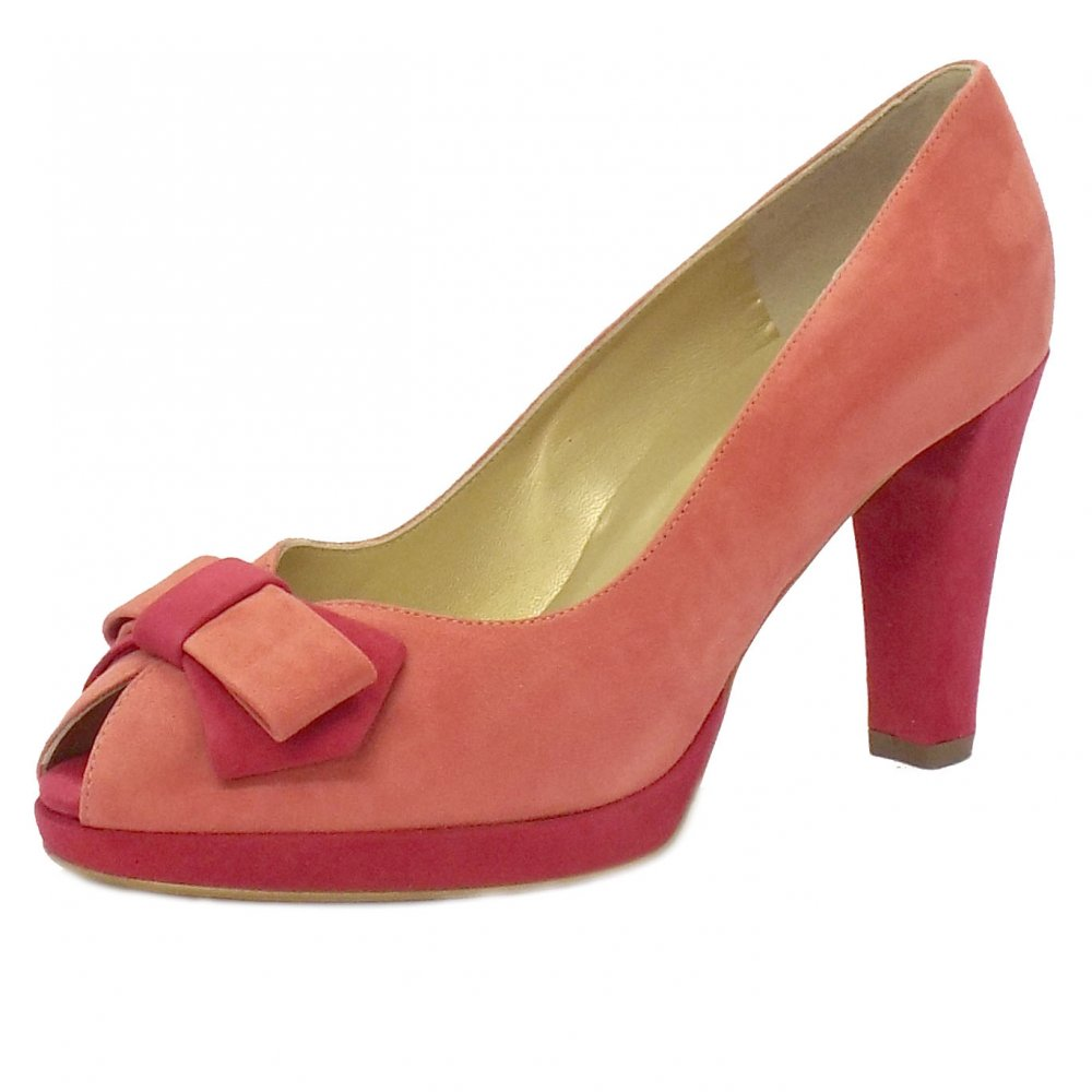 kaiser emina peep toe evening shoes in pink