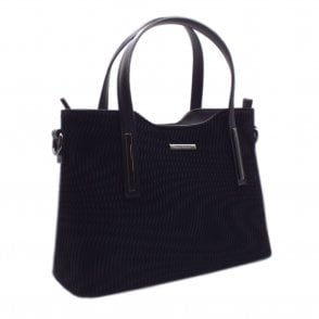 Esidell Black Nico Suede and Leather Versatile Bag