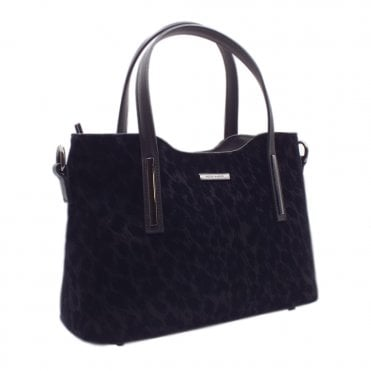 Esidell Black Tulia Suede and Leather Versatile Bag