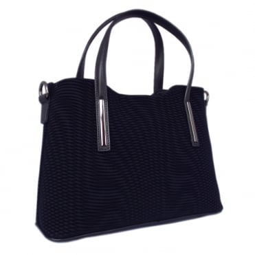 Esidell Navy Nico Suede and Leather Versatile Bag