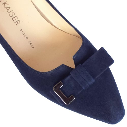 Peter Kaiser UK | Esti Navy Suede Low Heel Pumps | Free UK Delivery