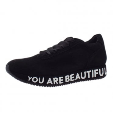 Felisa Trendy Sneakers in Black Suede