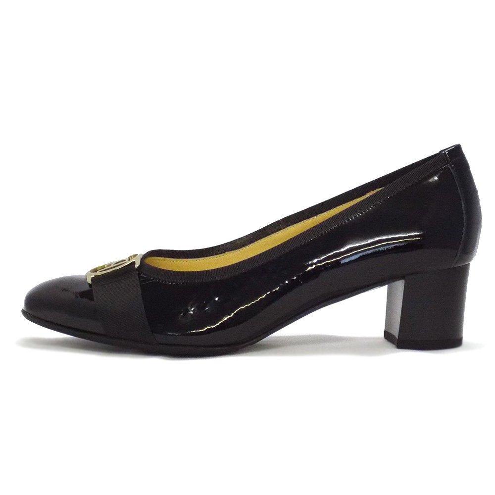 kaiser galma black crackle patent toe court