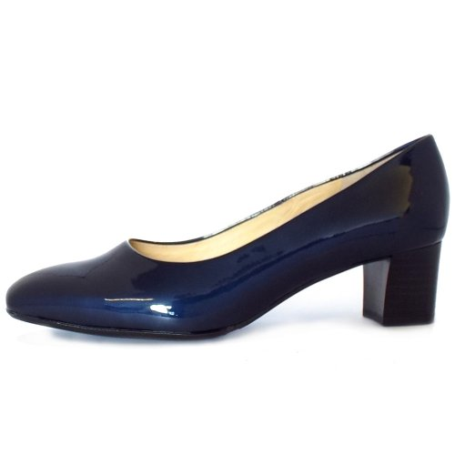 ... Ghana Notte Cabi Navy Patent Plus Fit Low Heel Pumps ... 069298ad4562