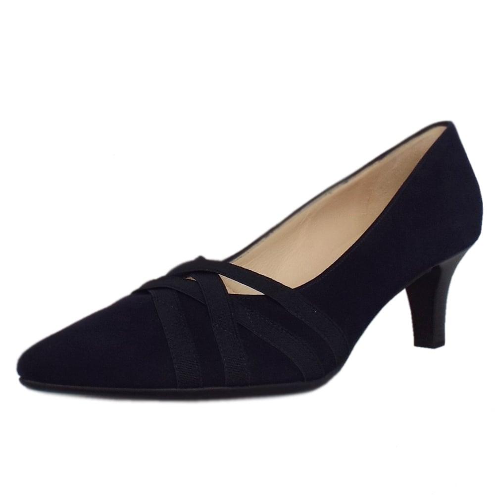 peter kaiser haissel notte suede block heel fashionable pumps. Black Bedroom Furniture Sets. Home Design Ideas